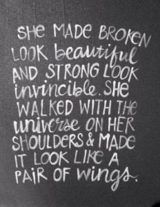 she made broken look beautiful